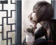 2chica-con-gato
