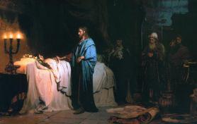 Resurreccion hija de Jairo - Ilja_Jefimowitsch_Repin_013