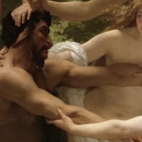 •	Ninfas y Sátiro, de William-Adolphe Bouguereau.