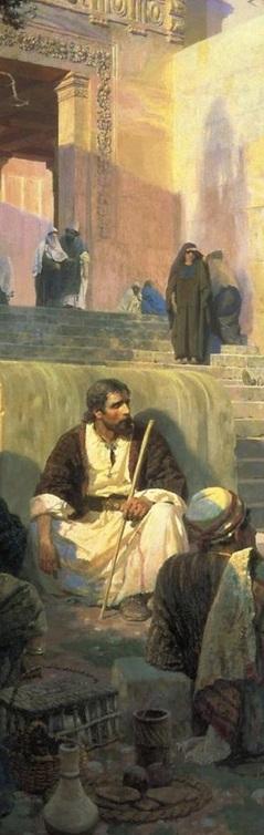 Vasily Polenov-Cristo y la mujer sorprendida en adulterio-4