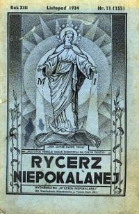 Caballero de la Inmaculada - Rycerz Niepokalanej - 1934