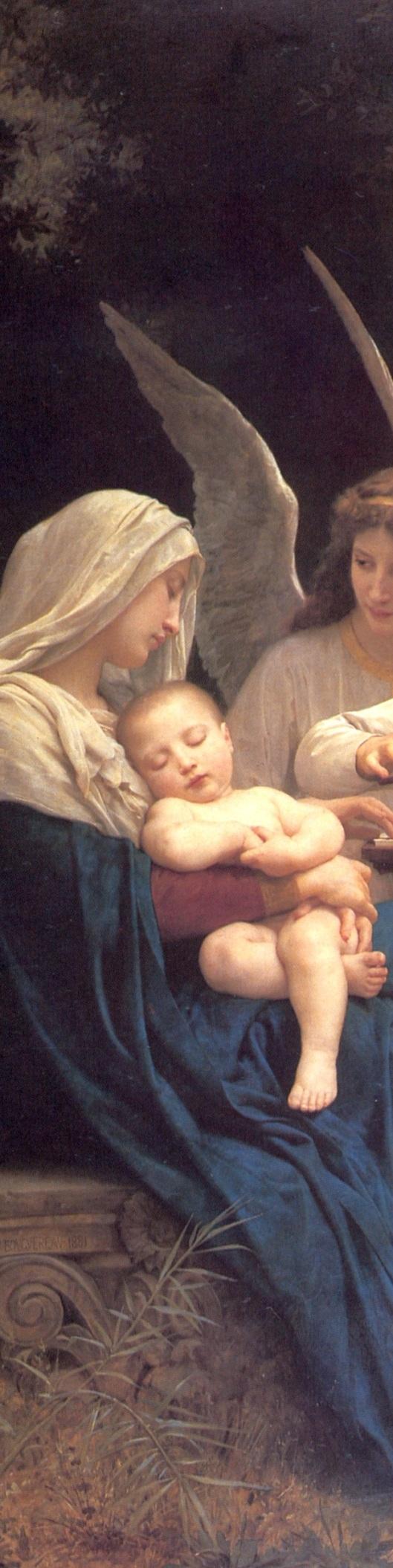La Virgen rodeada de ángeles - detalle5