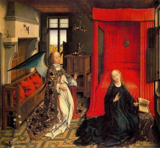 Anunciación de Rogier van der Weyden