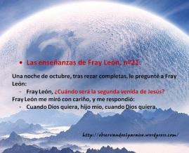 Las enseñanzas de Fray León nº21